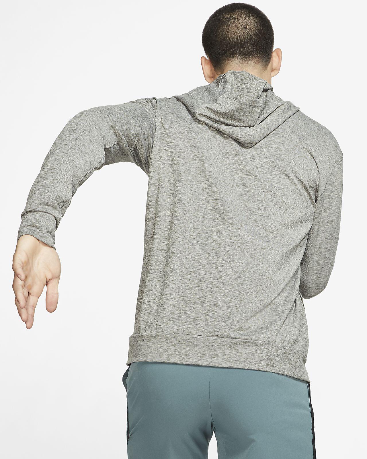 męska rozpinana bluza treningowa z kapturem nike dri-fit
