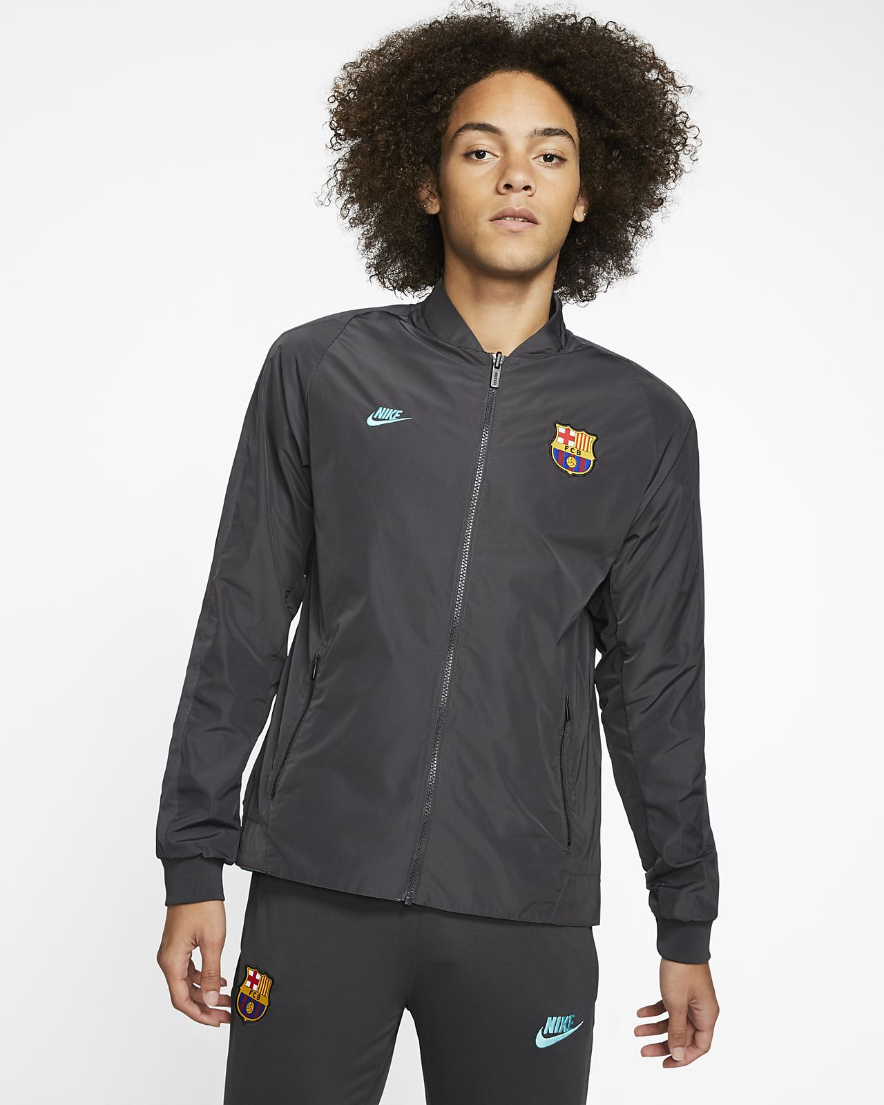 F.C. Barcelona Men's Reversible Jacket