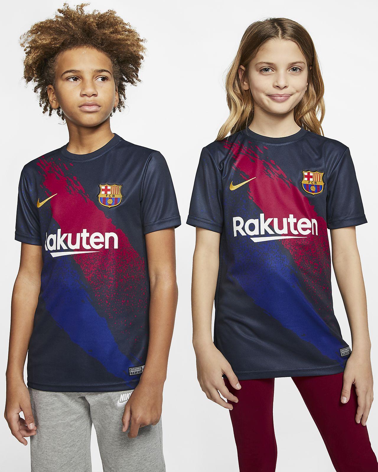 FC Barcelona Kurzarm-Fußballoberteil für ältere Kinder