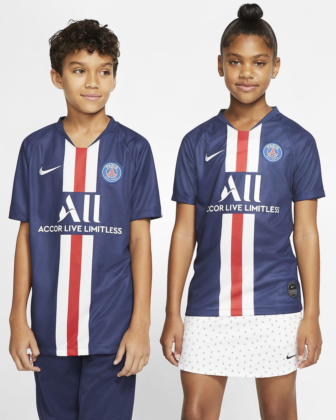 Ποδοσφαιρική φανέλα Paris Saint-Germain 2019/20 Stadium Home για μεγάλα παιδιά