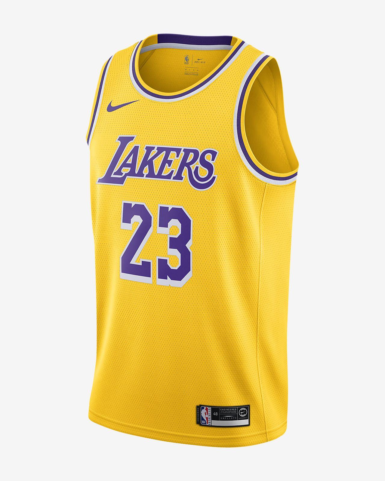 Maillot d'équipe Nike NBA Swingman LeBron James Lakers Icon Edition
