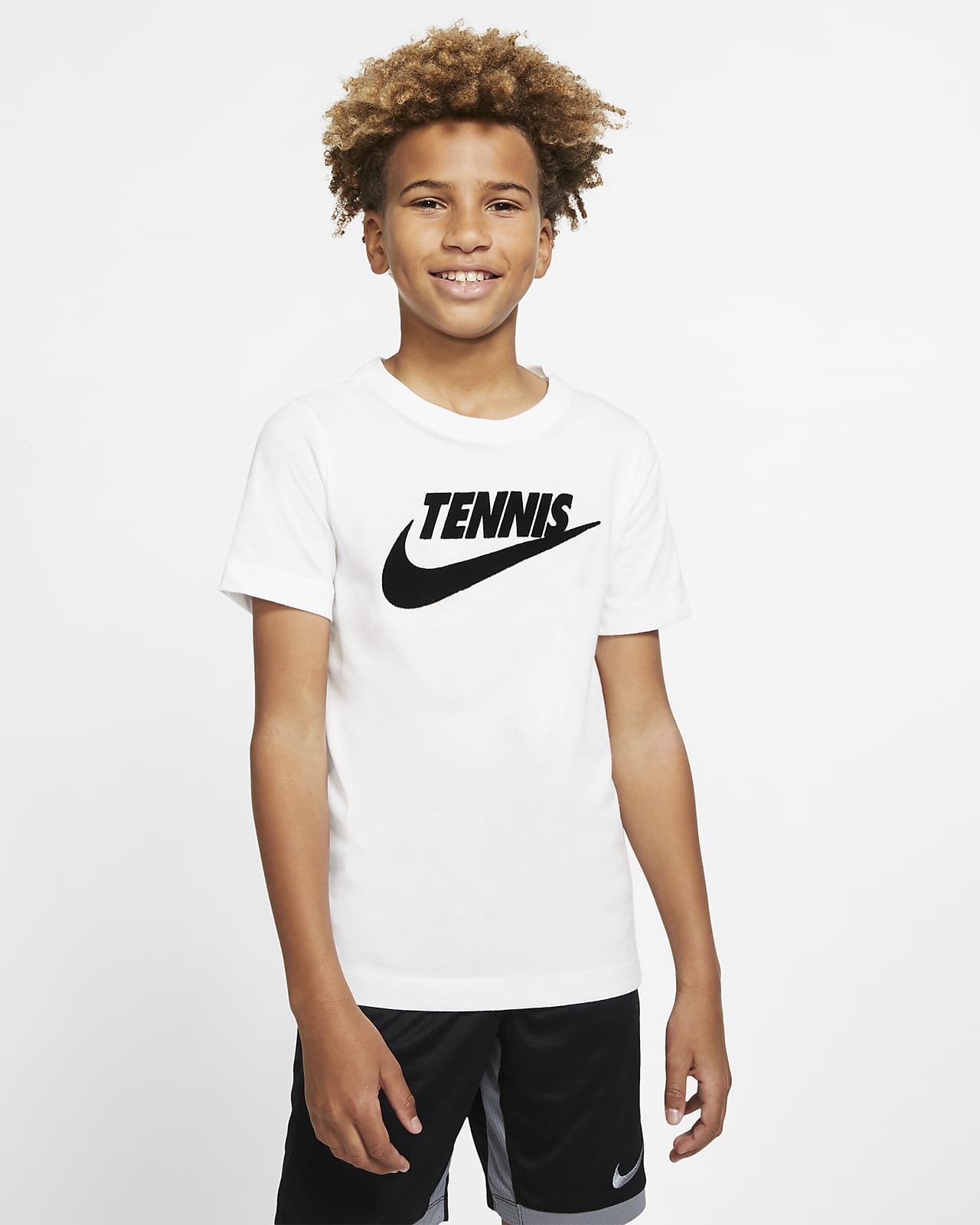 NikeCourt Dri-FIT-tennis-T-shirt med grafik til store børn (drenge)