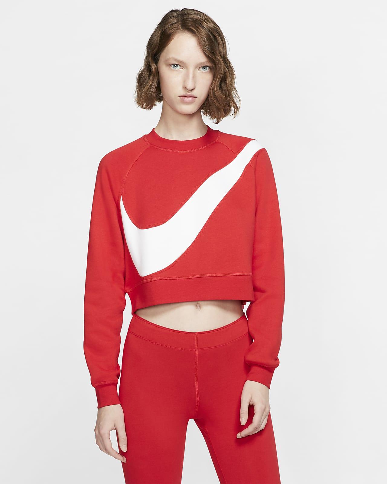 Γυναικεία φλις μπλούζα Nike Sportswear Swoosh