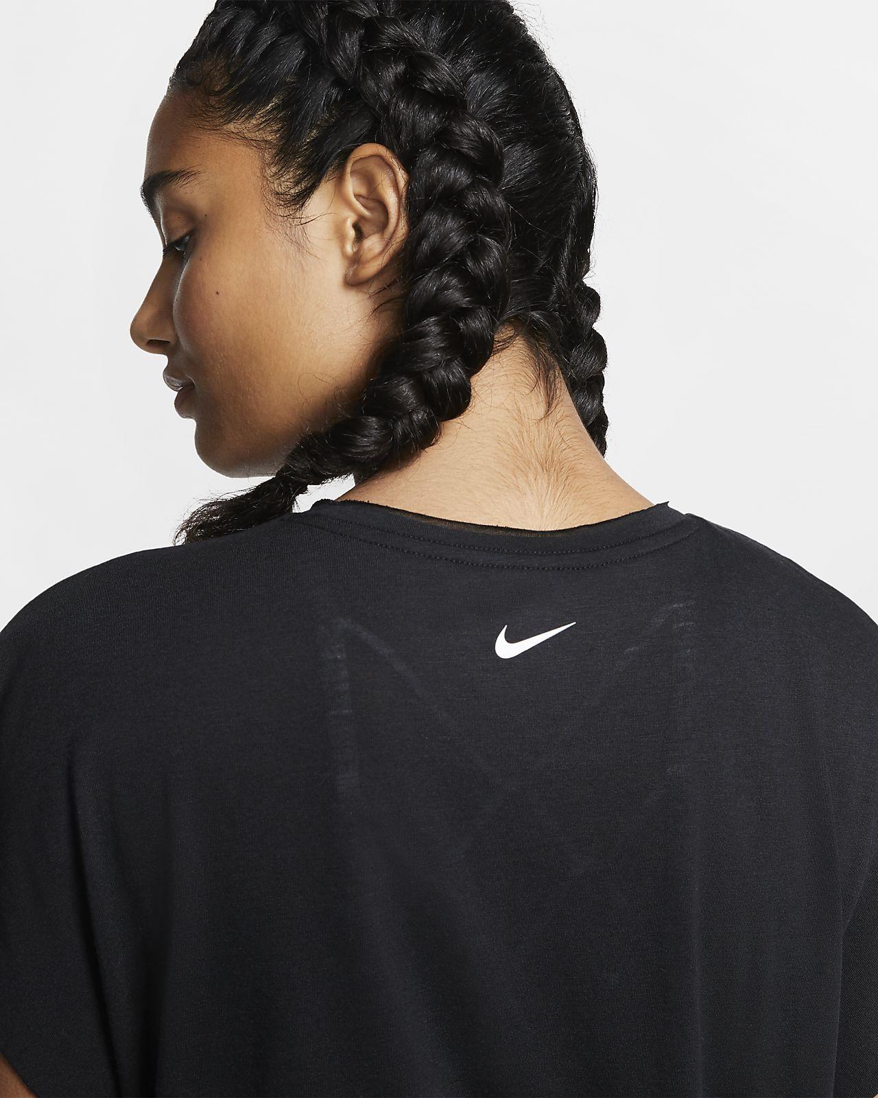Nike Dri FIT rövid ujjú női edzőfelső