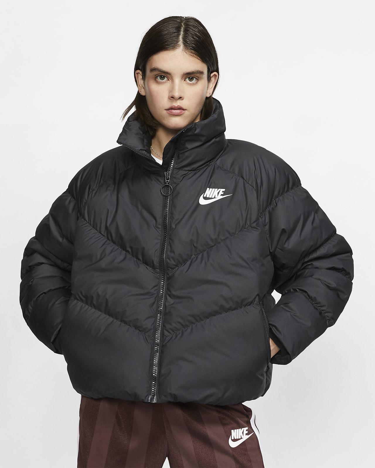 Giacca piumino con imbottitura sintetica nike sportswear nero nike neri giacche invernali