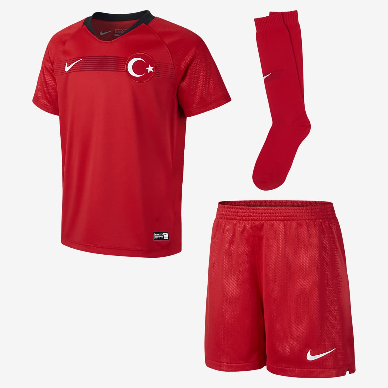2018 Turkey Stadium Home fotballdraktsett til små barn