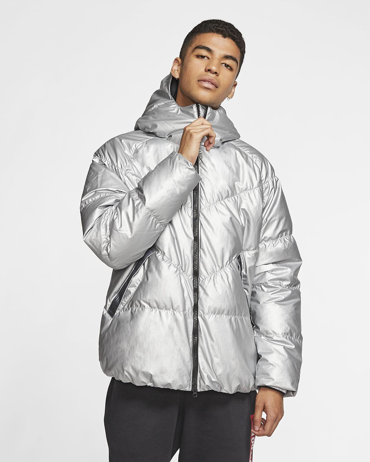 metallic silver nike jacket