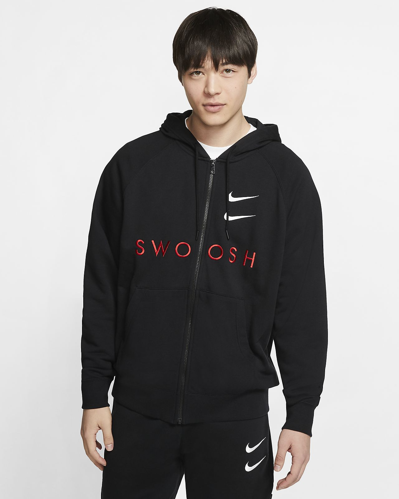 Nike Sportswear Swoosh Men's Full-Zip French Terry Hoodie