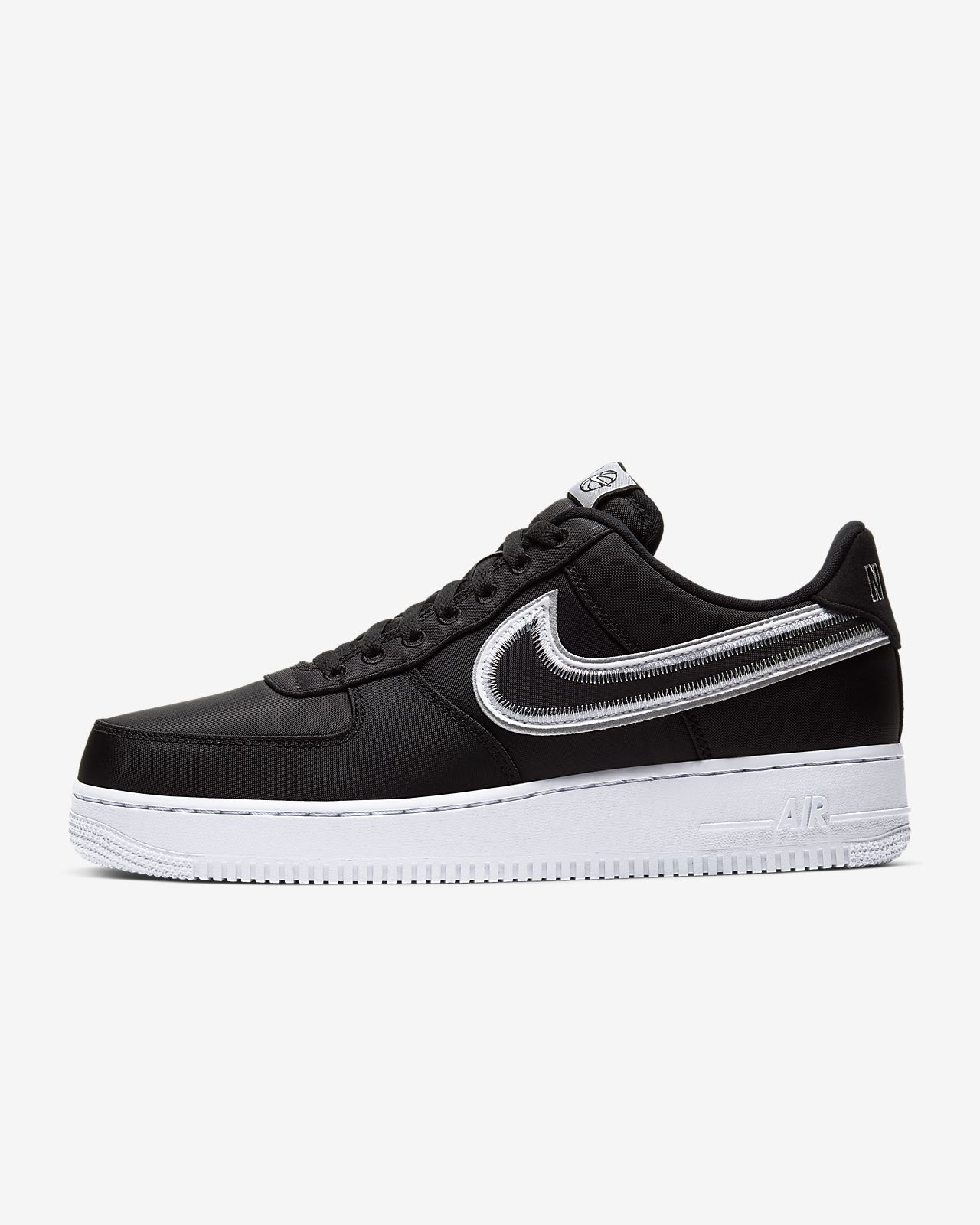 nike air force 1 black white suede