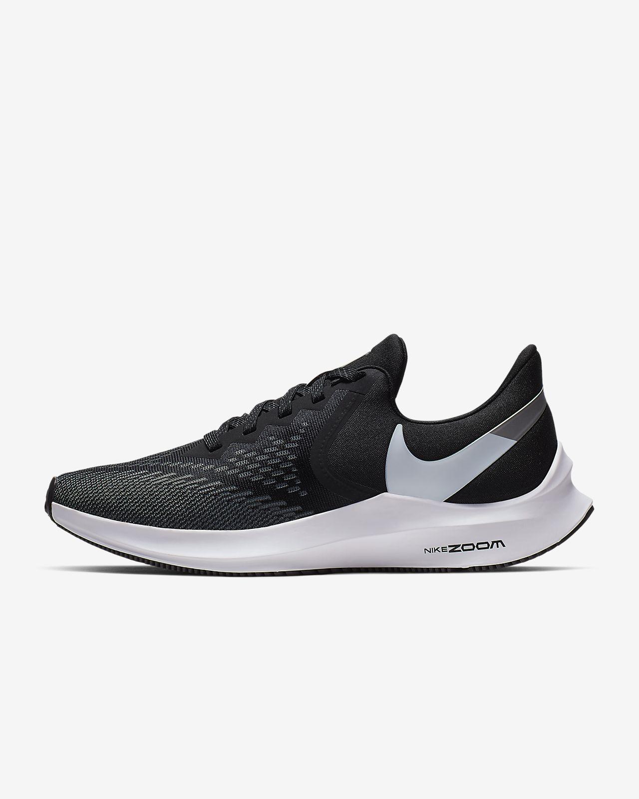 Nike Air Zoom Winflo 6 Men's Running Shoe (Black) | Running