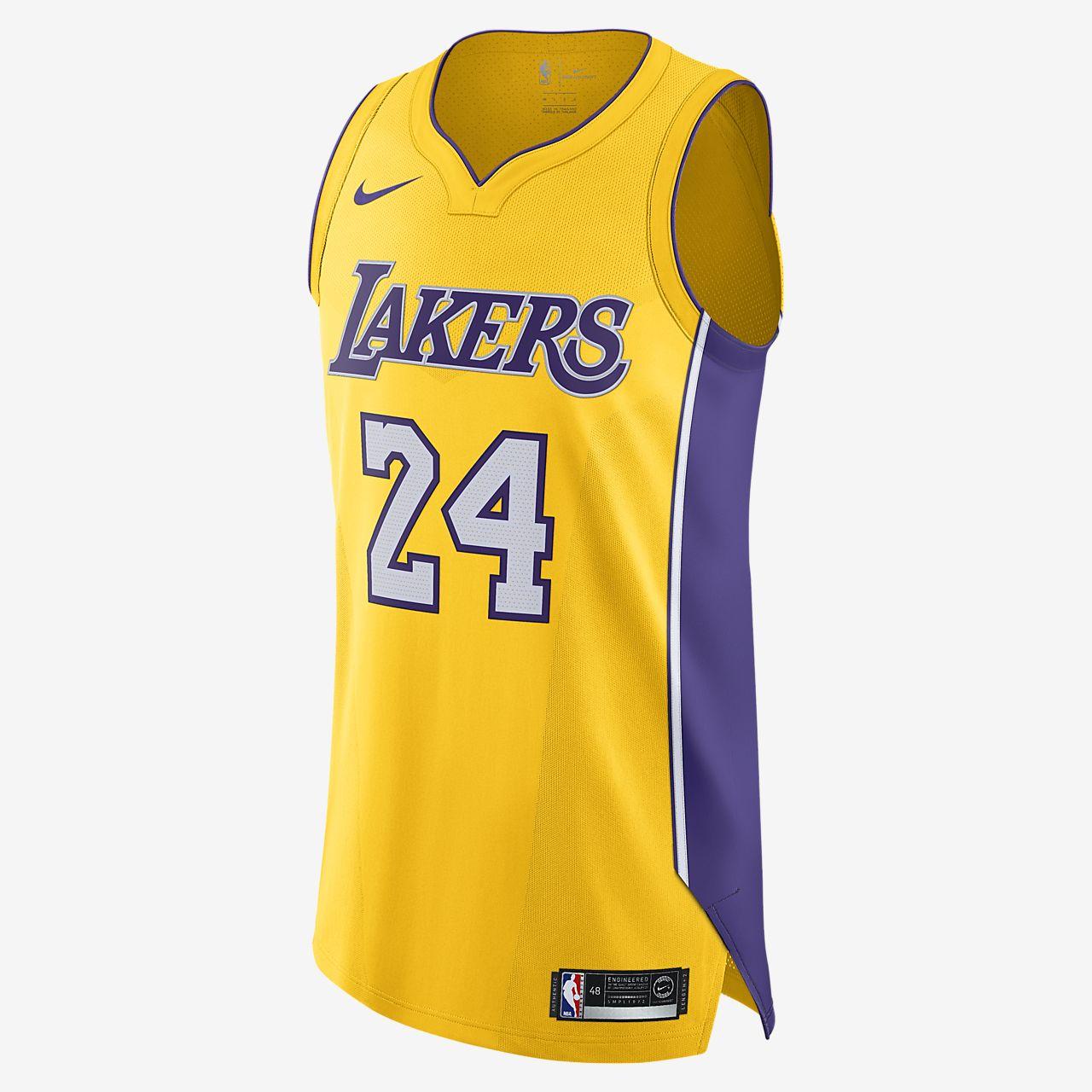洛杉矶湖人队 (Kobe Bryant) Icon Edition Nike NBA Authentic Jersey 男子球衣