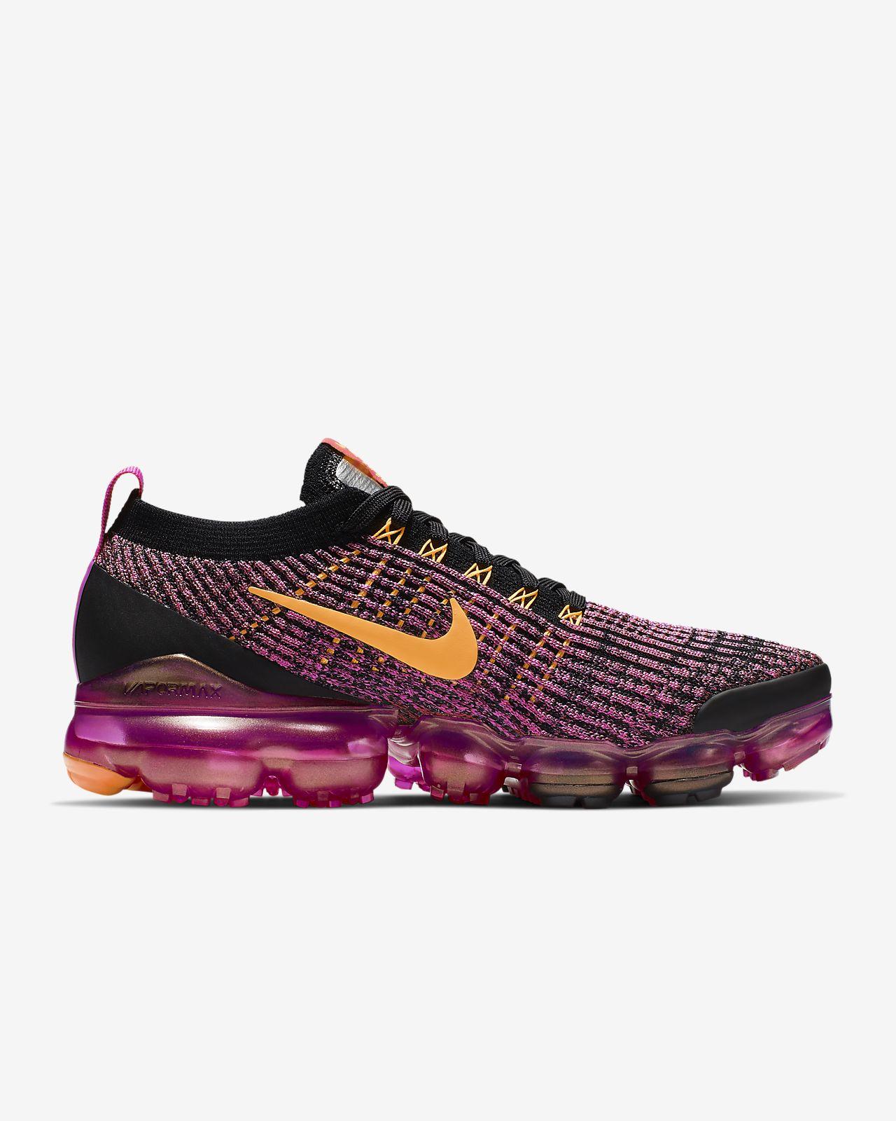 Womens Nike Air Vapormax Flyknit 3 Size 8.5 Running Shoes Fuschia AJ6910 600