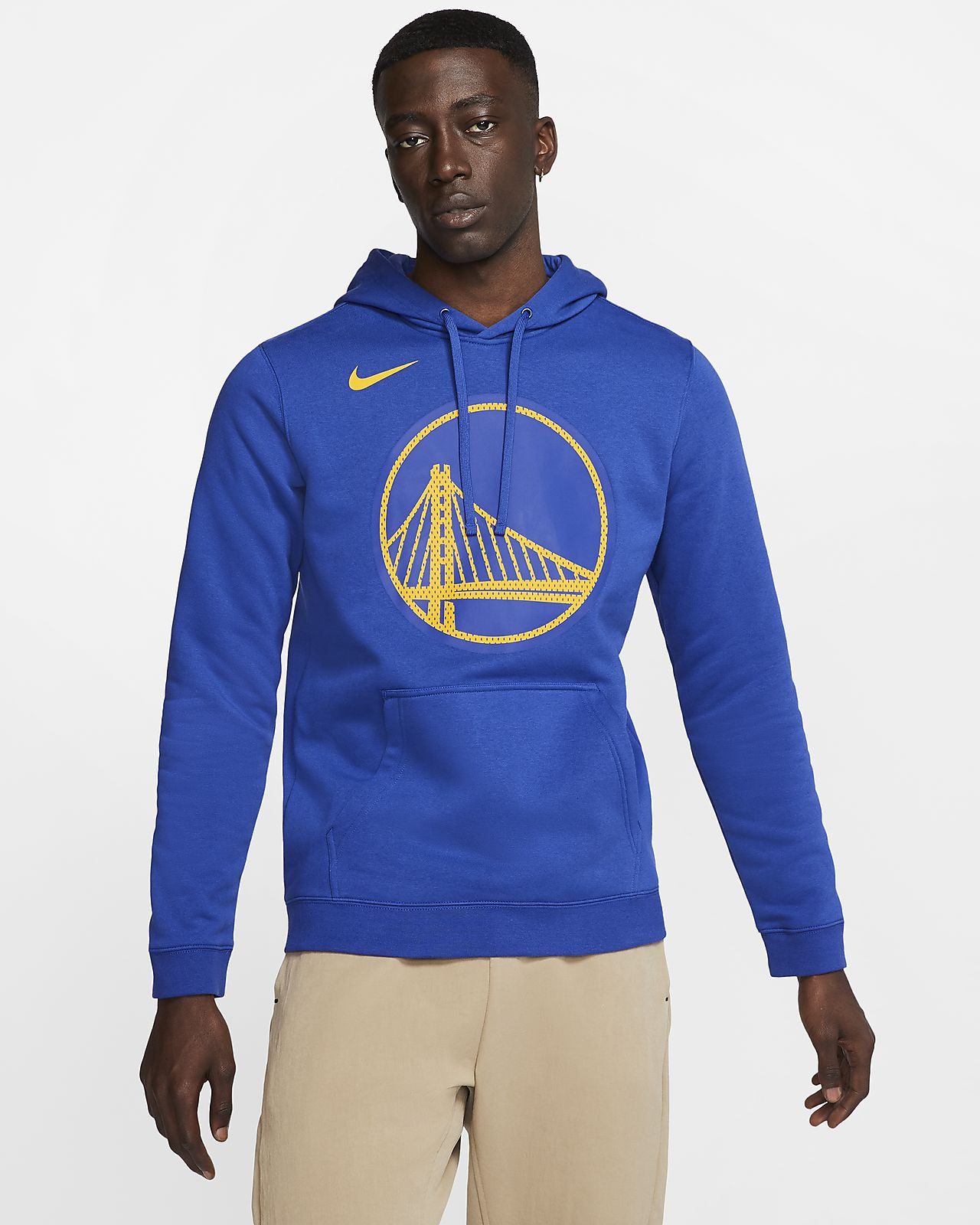 Golden State Warriors Logo Men's Nike NBA Hoodie