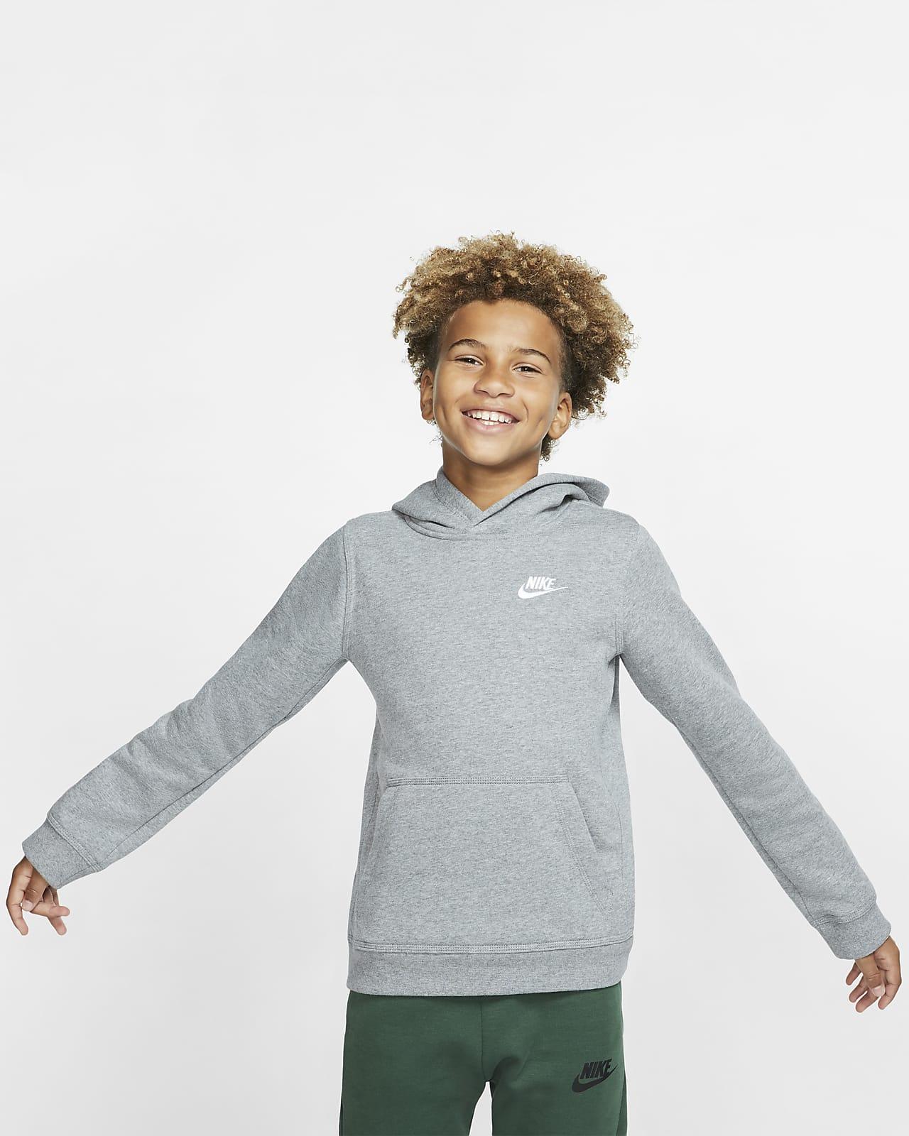 Nike Sportswear Club-pullover-hættetrøje til større børn