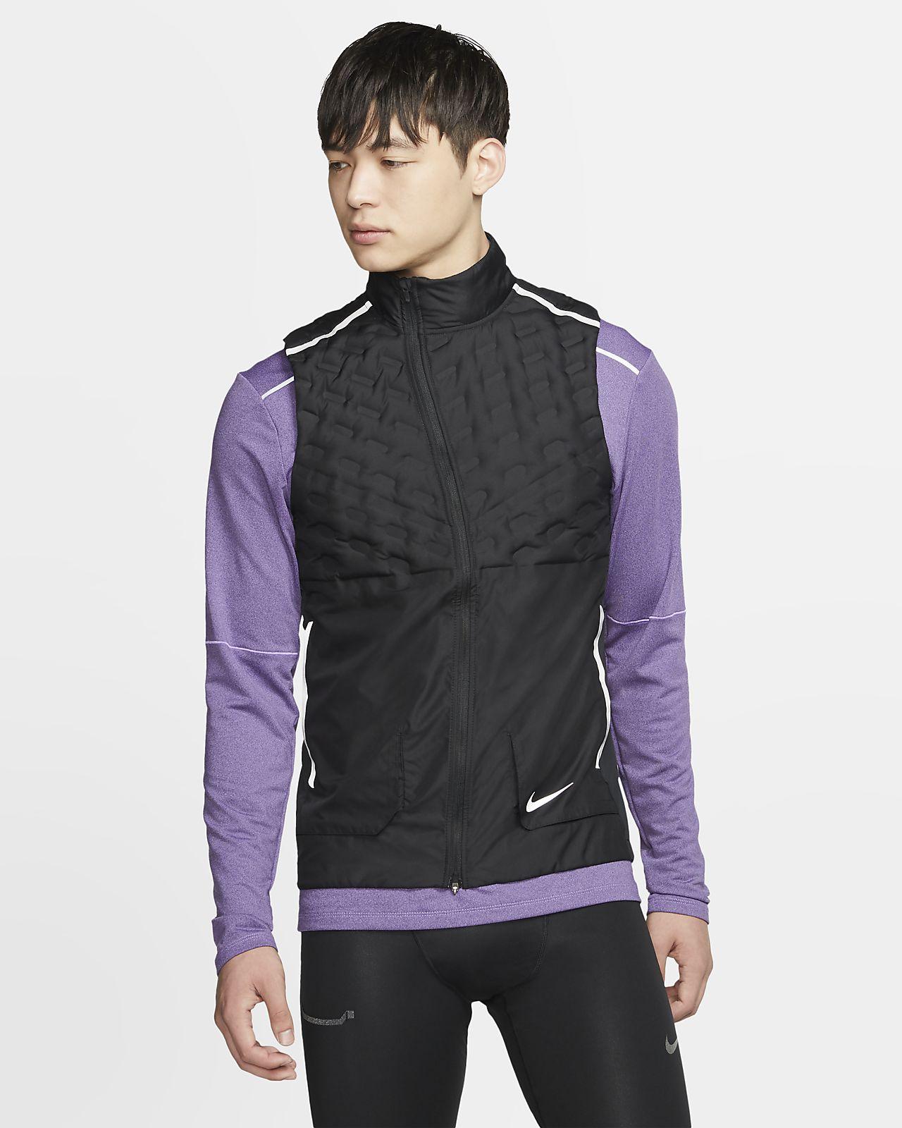 Nike Jakke Tech Fleece Aeroloft Sort