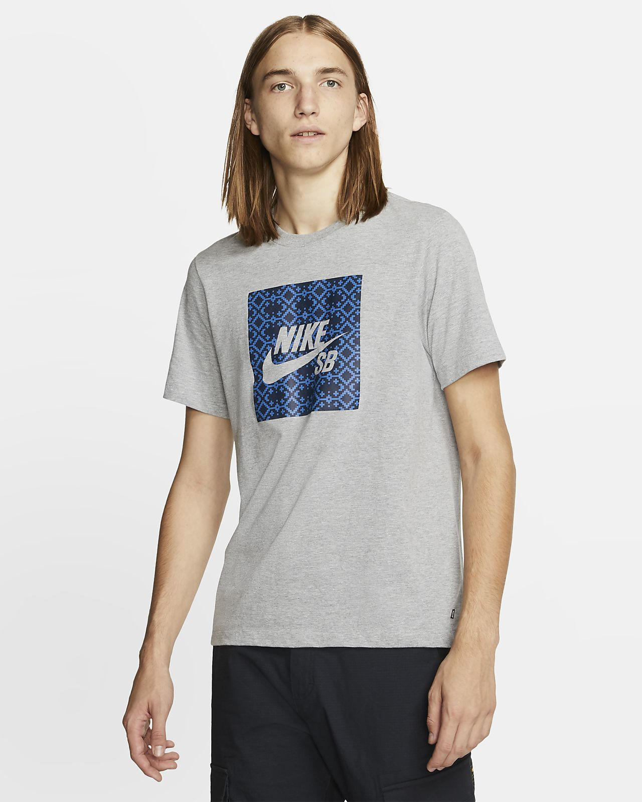 Męski T shirt do skateboardingu z logo Nike SB. Nike PL