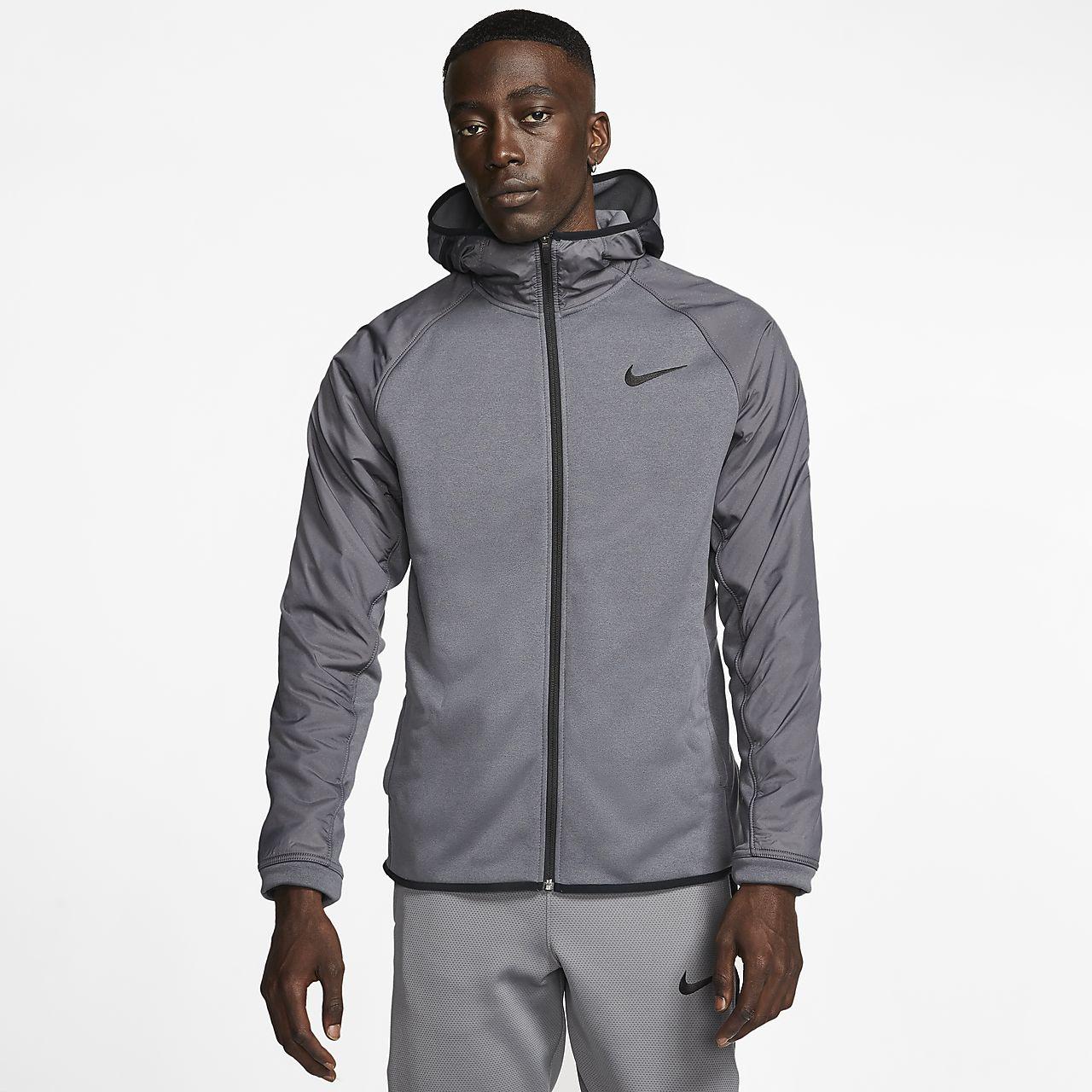 Nike Therma 男子全长拉链开襟篮球连帽衫