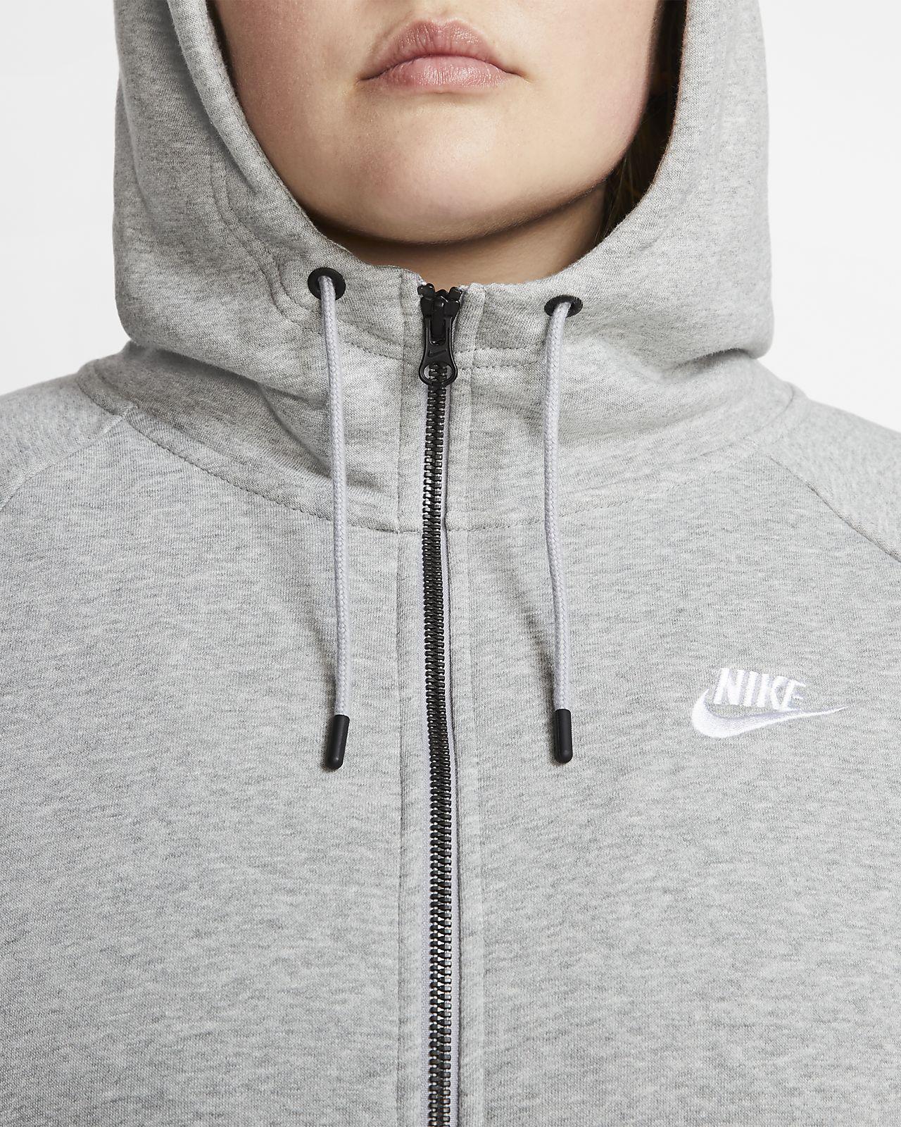 sweat zippé à capuche femme essential nike