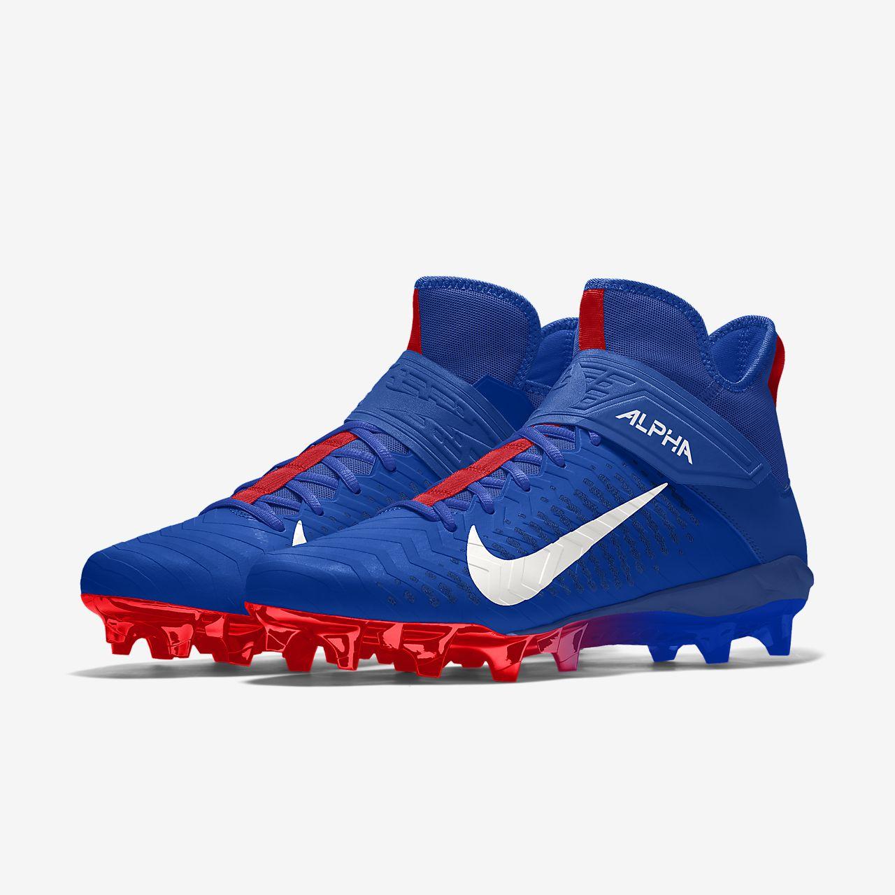 Chaussure de football à crampons personnalisable Nike Alpha Menace Pro 2 Mid By You pour Homme