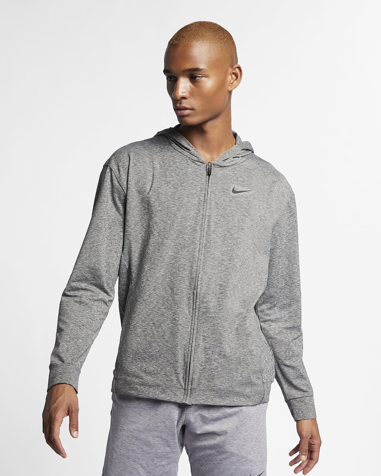 Nike Dri-FIT Tam Boy Fermuarlı Erkek Kapüşonlu Yoga Antrenman Üstü