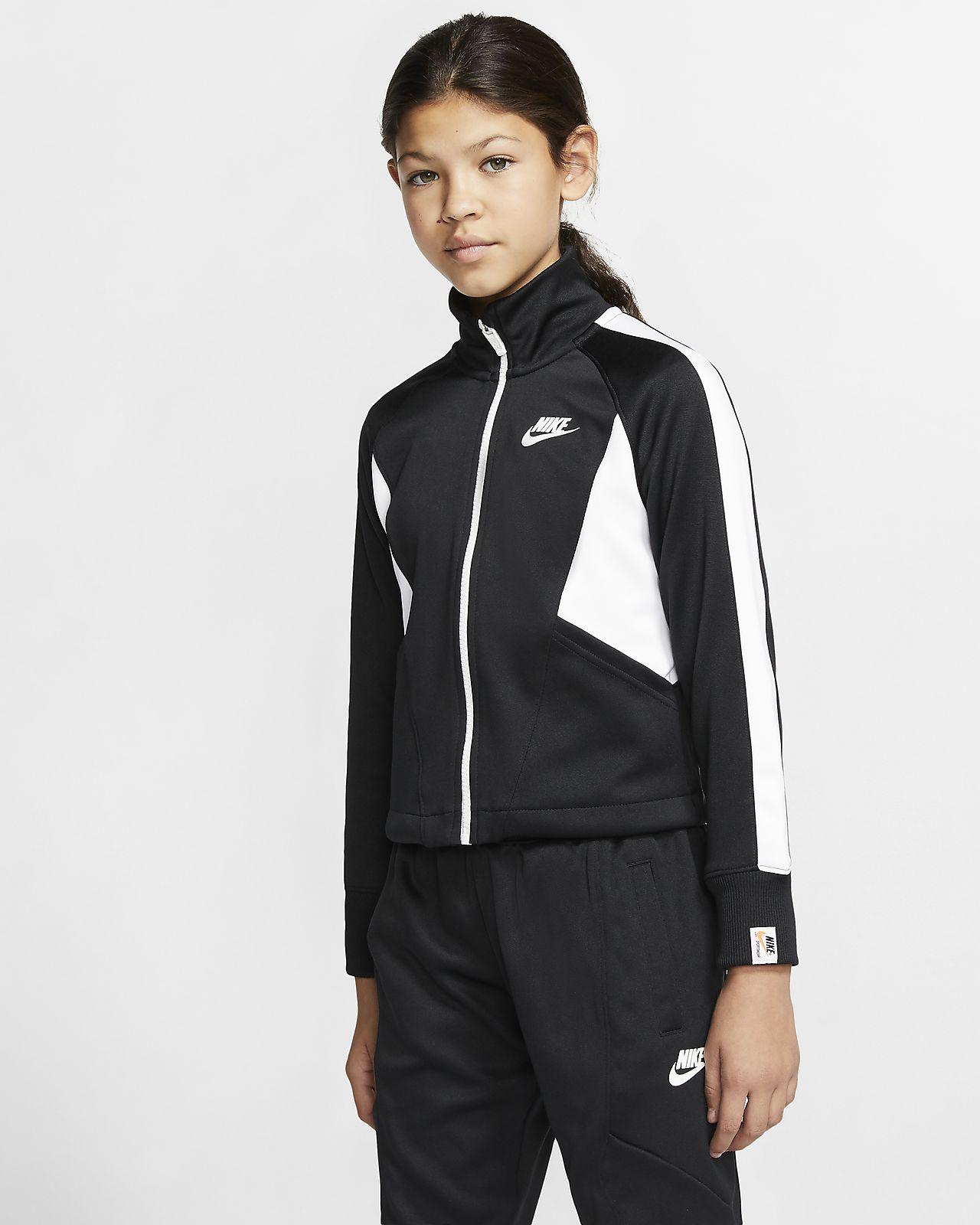Casaco com fecho completo Nike Sportswear Heritage Júnior (Rapariga)