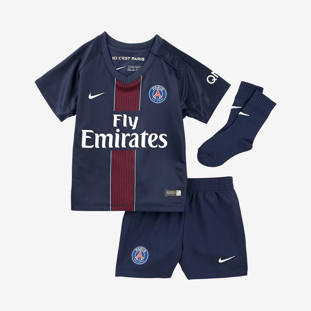 2016/17 赛季巴黎圣日尔曼主场婴童足球球迷套装