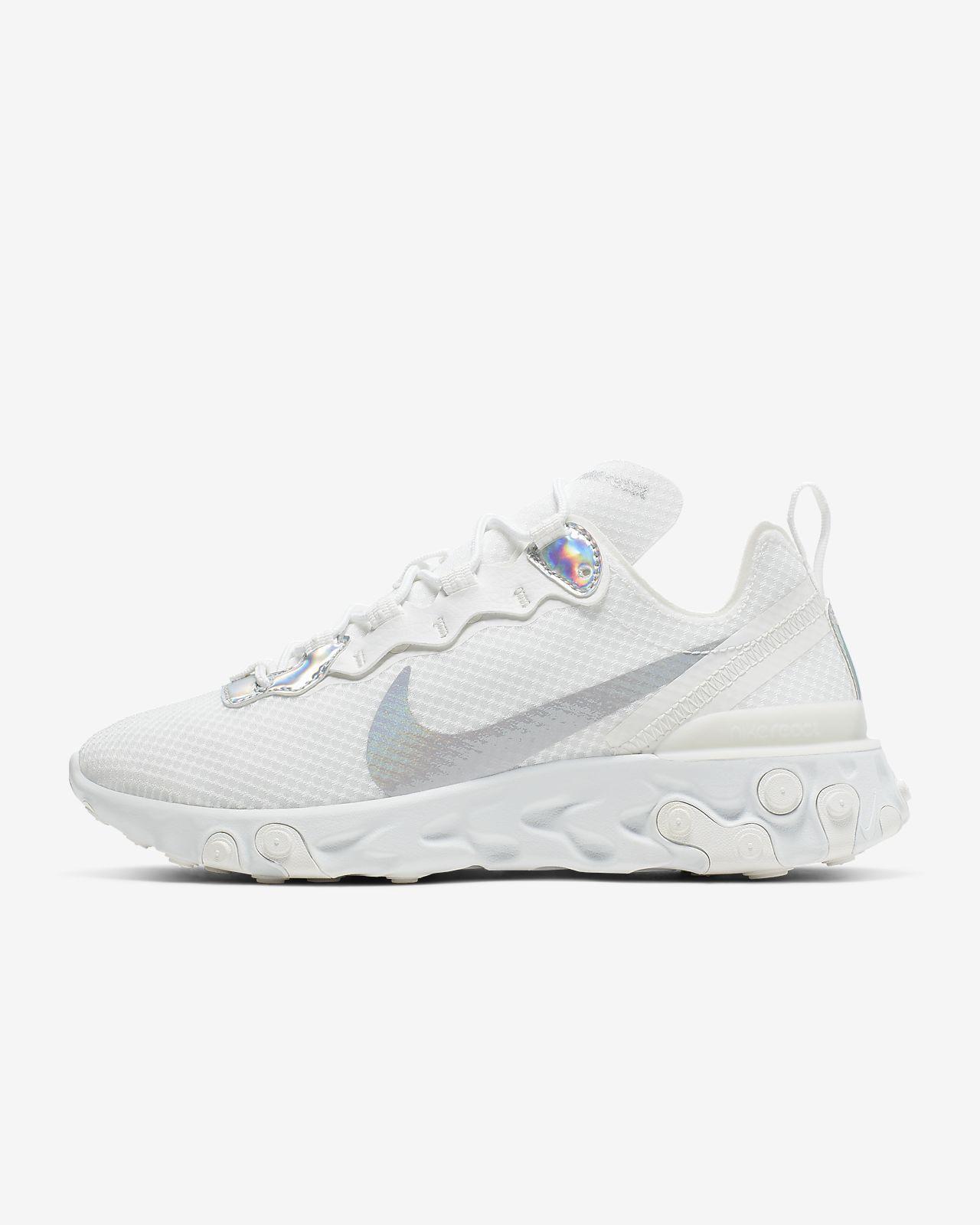 Sapatilhas iridescentes Nike React Element 55 para mulher