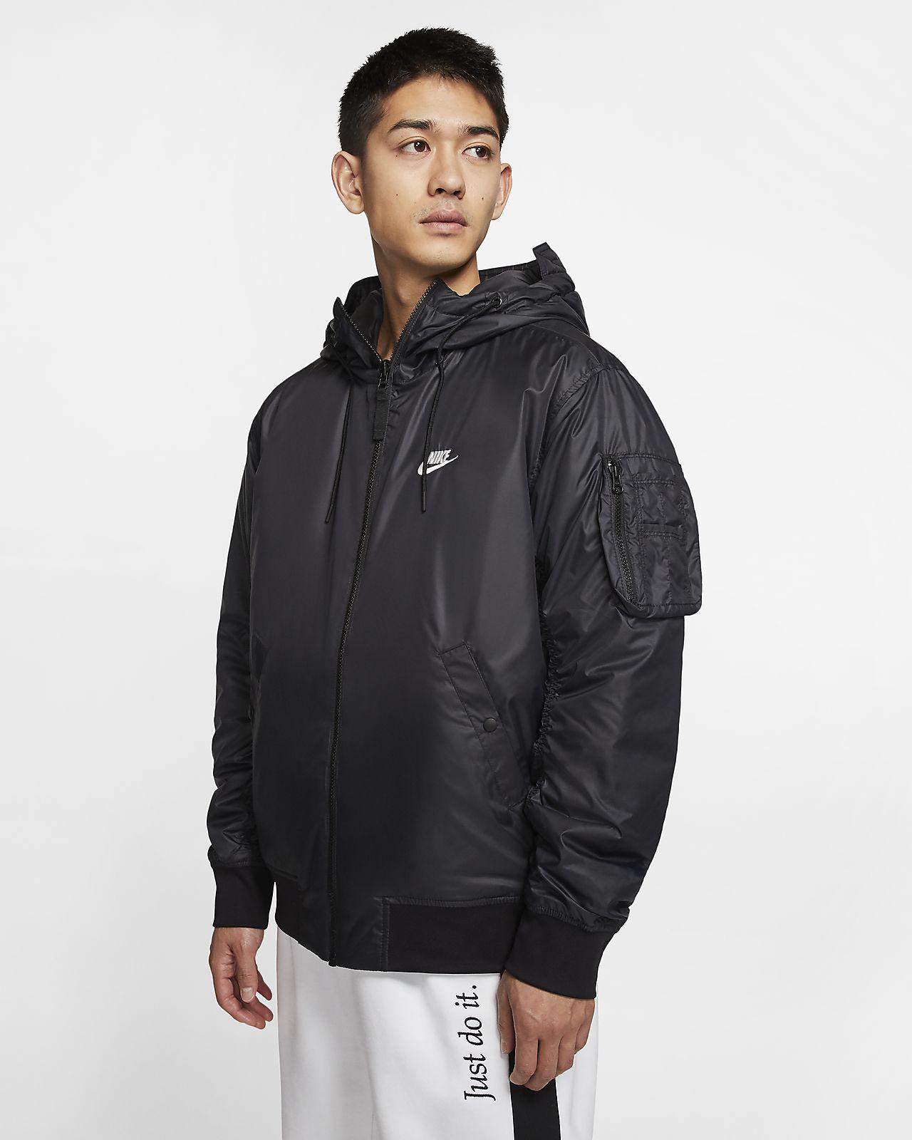 Nike vendbar jakke med hætte mænd