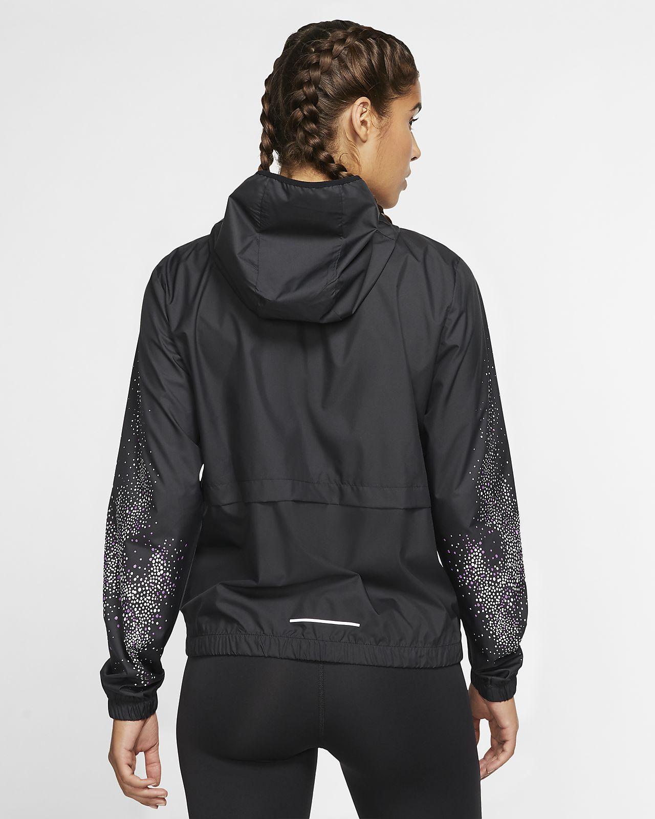 Nike Essential løpejakke med hel glidelås til dame