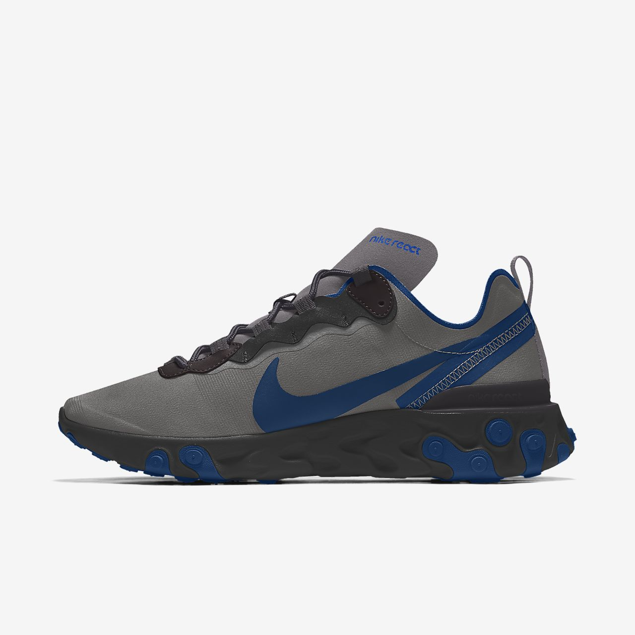 Specialdesignad livsstilssko Nike React Element 55 By You för män