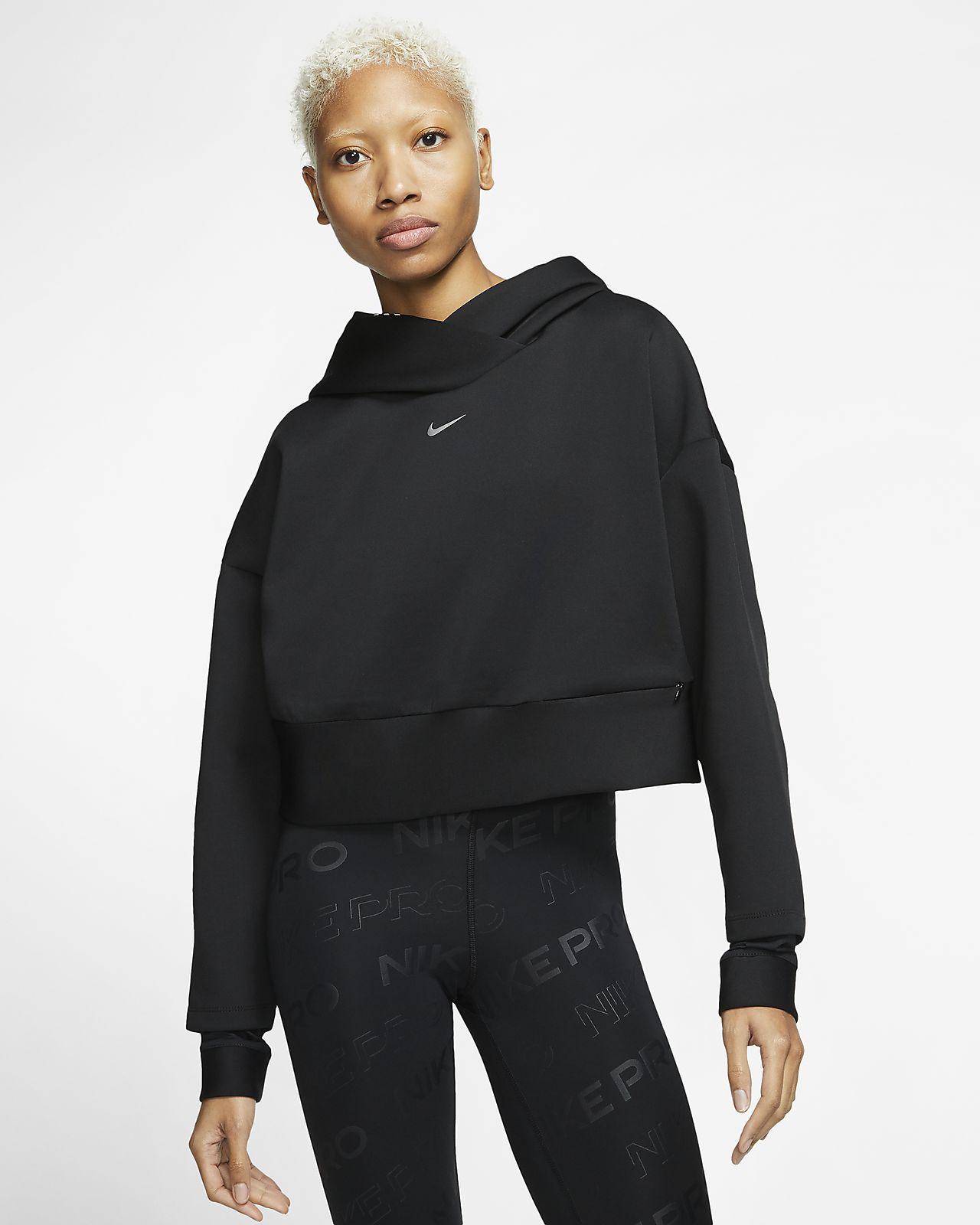 Nike Pro belebújós polár kapucnis női pulóver