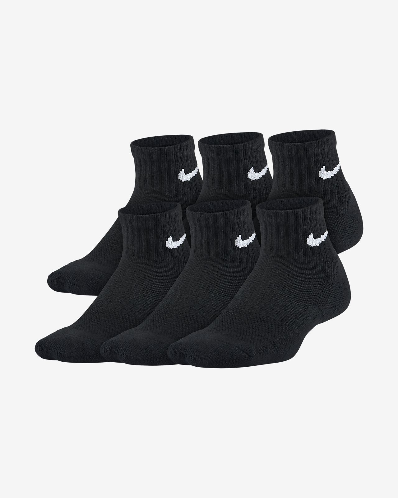 última tecnología estilo clásico mejor online Nike Performance Cushioned Quarter Kids' Training Socks (6 Pair ...