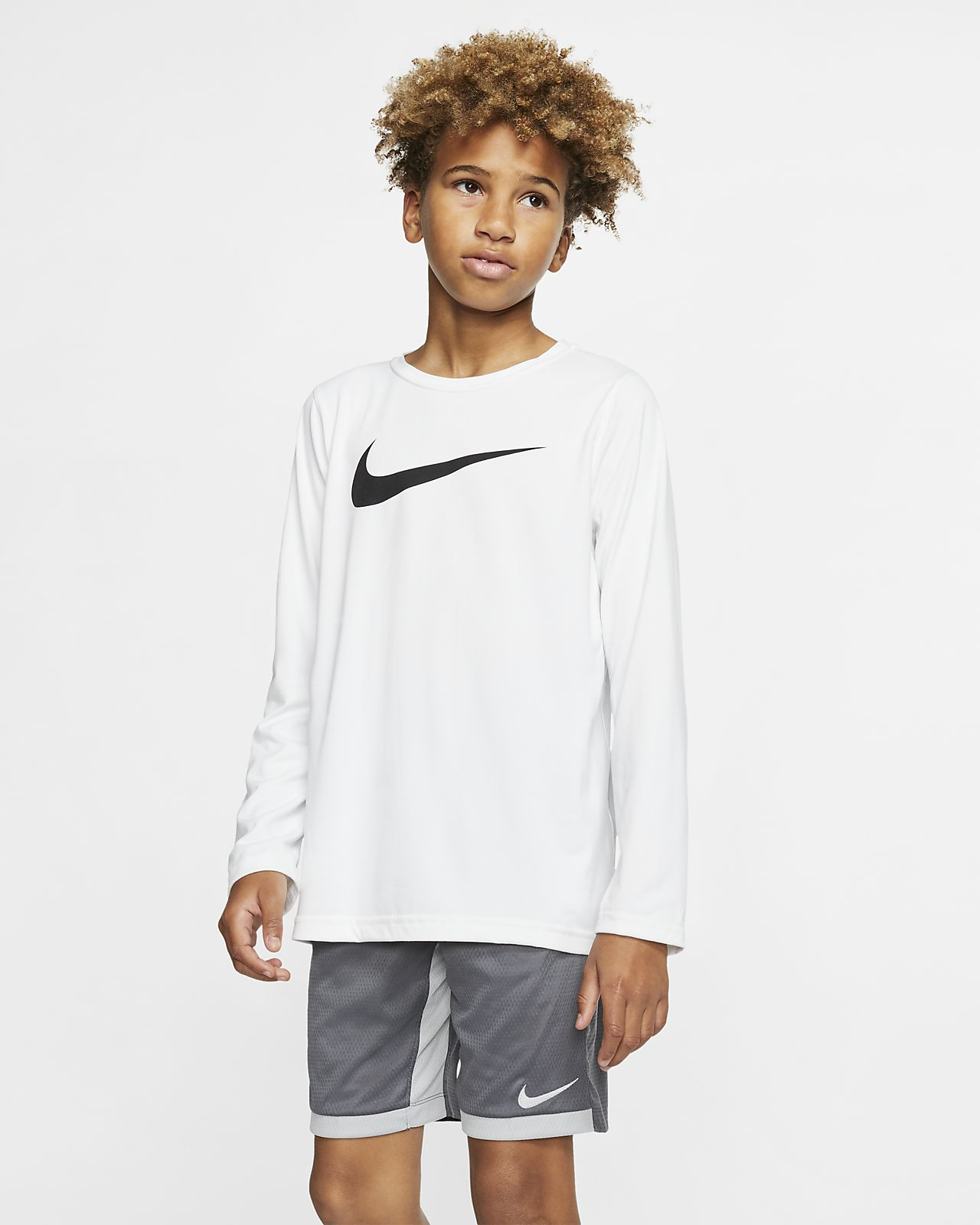 Nike Dri-FIT Big Kids' Long-Sleeve Training T-Shirt