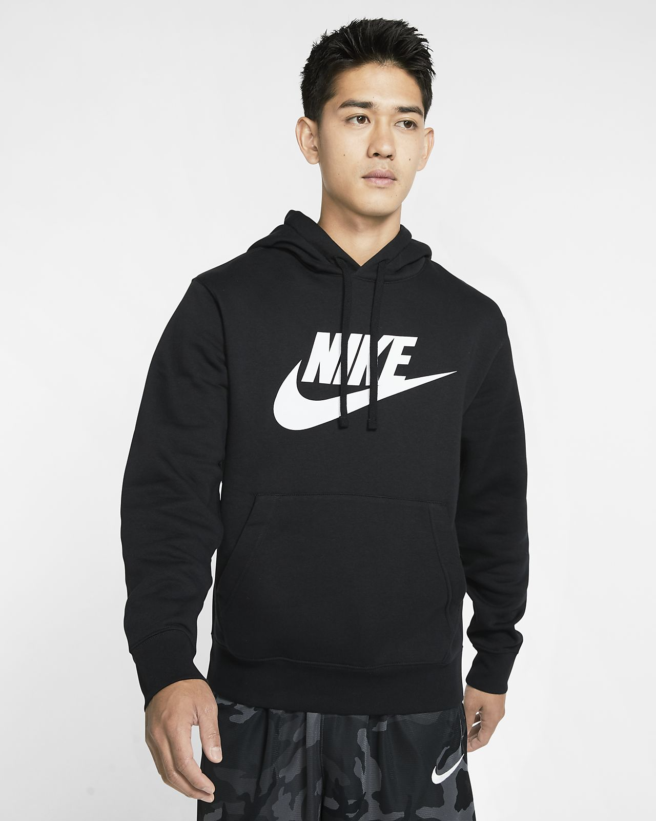 Nike Sportswear Club Fleece 男子印花套头连帽衫