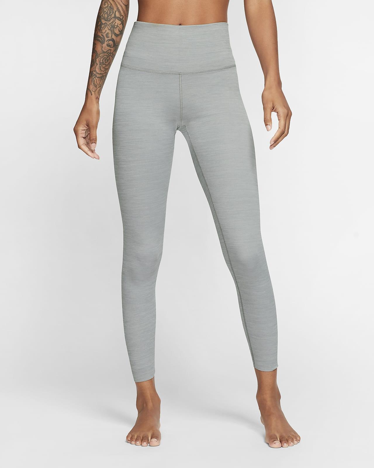 Женские слегка укороченные леггинсы из ткани Infinalon с высокой посадкой Nike Yoga Luxe
