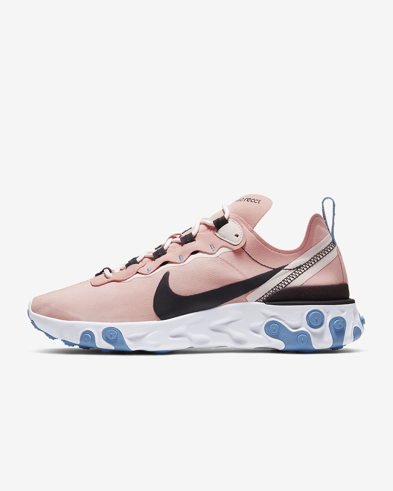 Pink and Blue Nike Sneakers