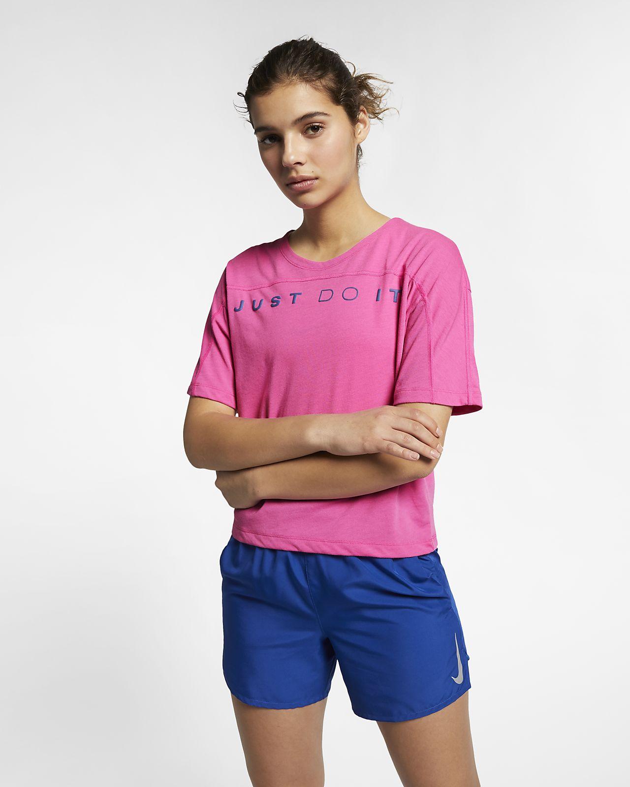 Kortärmad löpartopp Nike Dri-FIT Miler för kvinnor