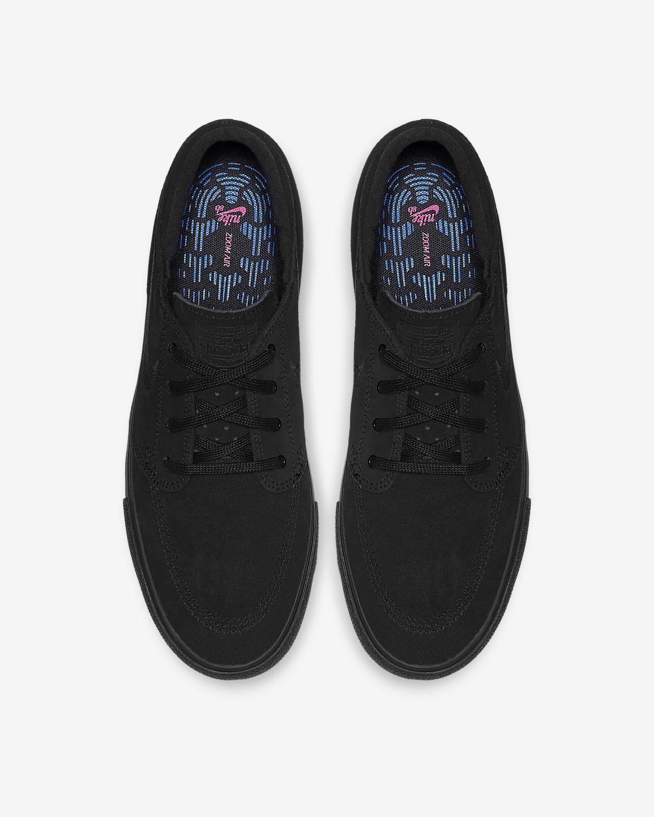 Nike SB Janoski RM Black Suede Skate Shoes