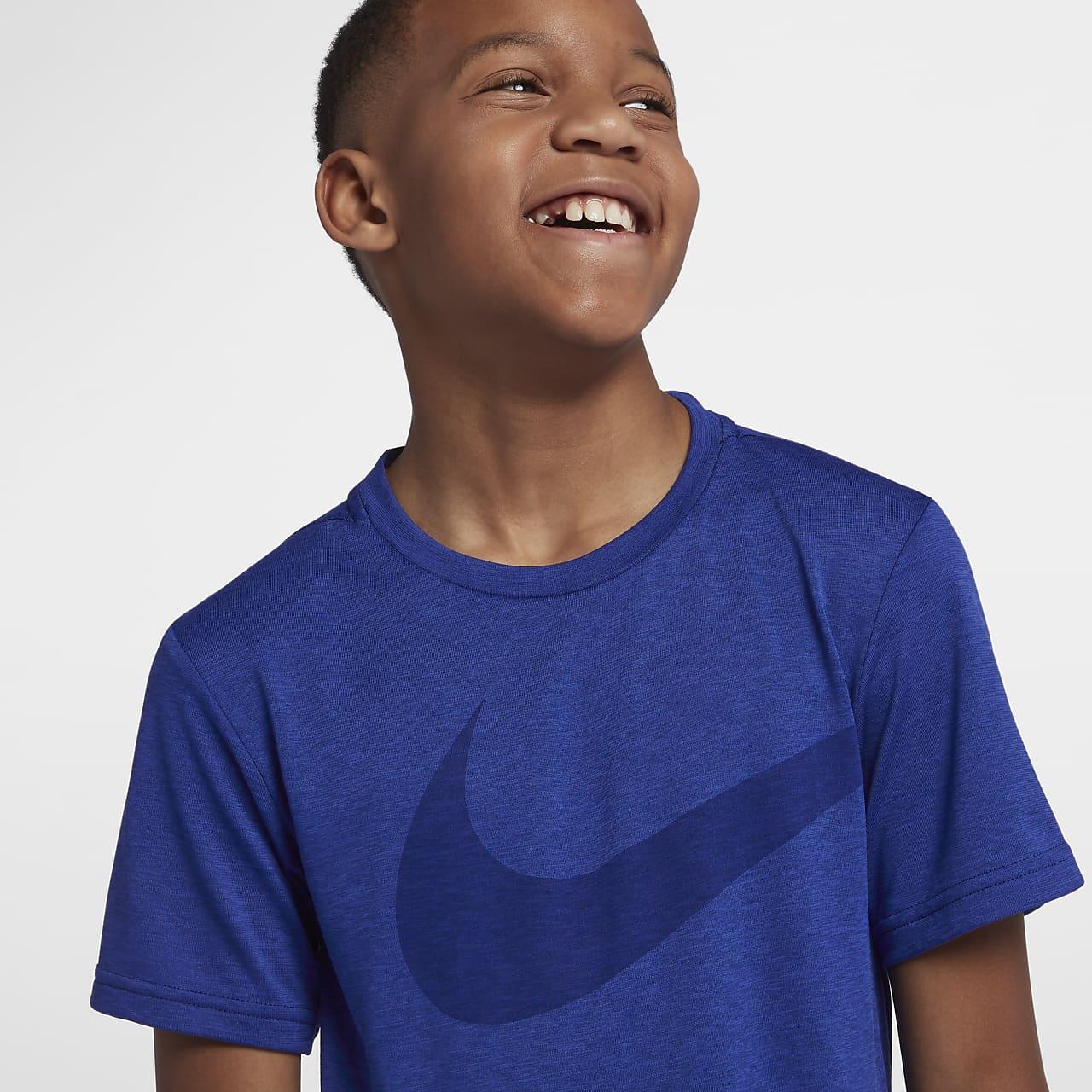 เสื้อเทรนนิ่งเด็กโต Nike Breathe (ชาย)