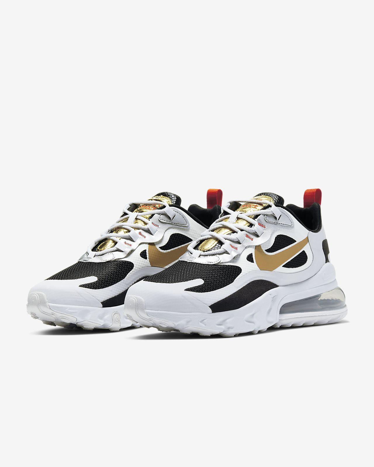Nike Air Max 270 React Sneakers WhiteBlackMetallic Silvern
