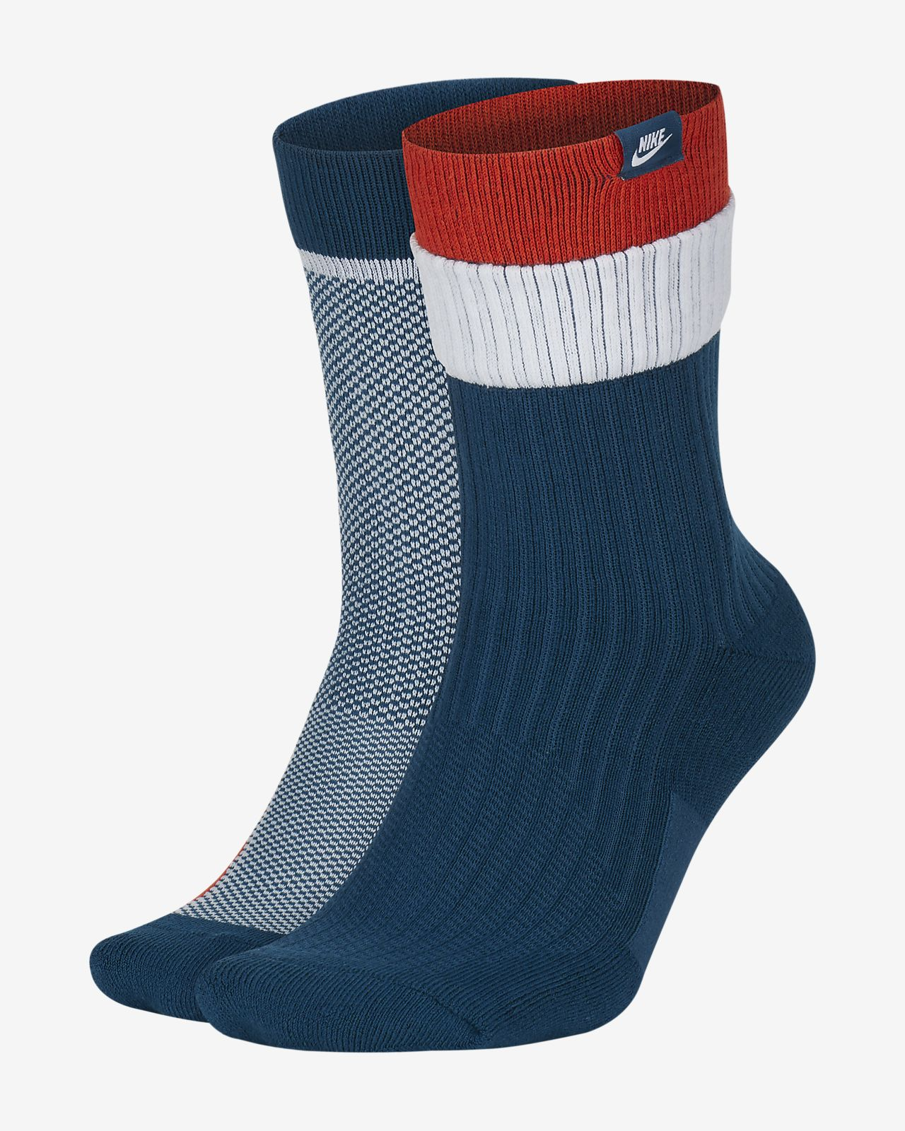 Nike SNEAKR Sox Multi-Height Socks (2 Pairs with gift box)