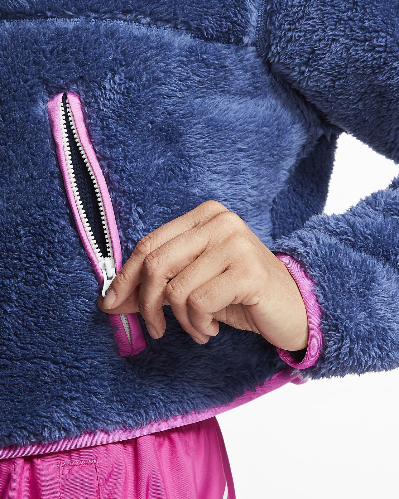 nike women's 3/4 zip sweatshirt