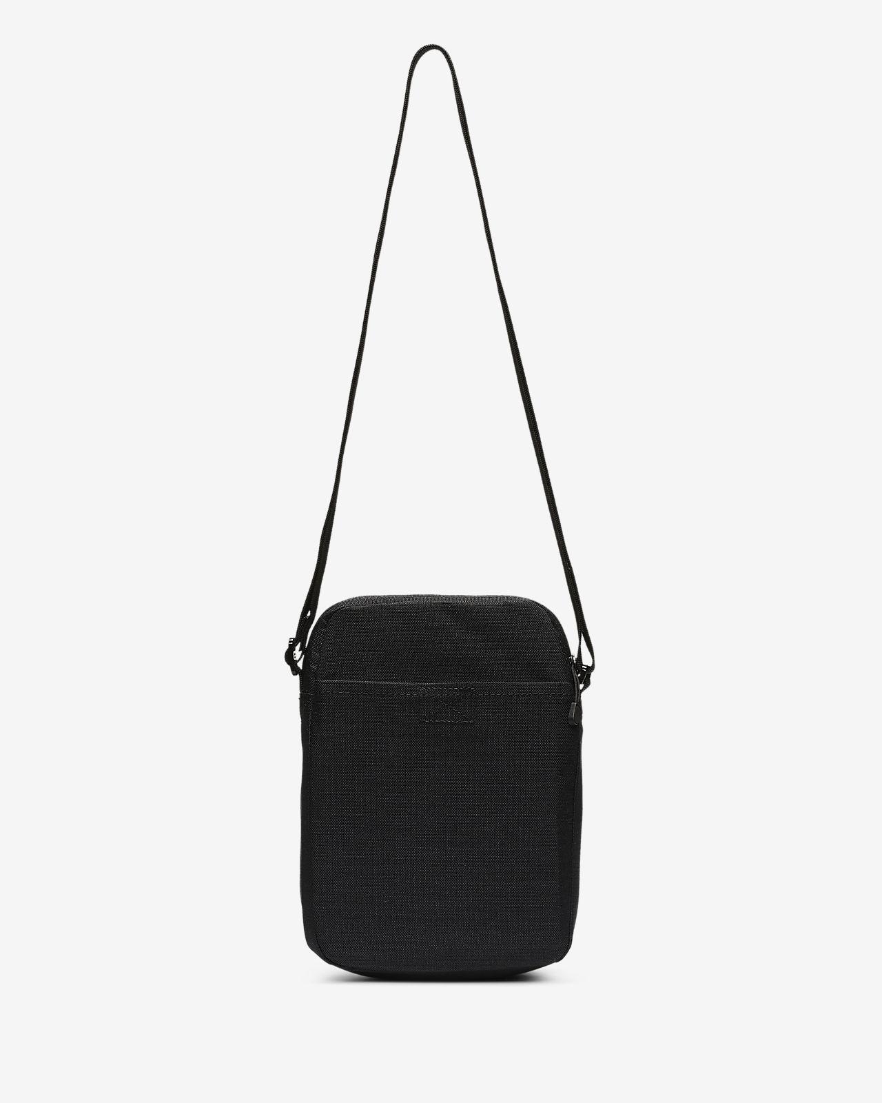Nike Air Max Small Items Shoulder Bag Black With 2 Zip