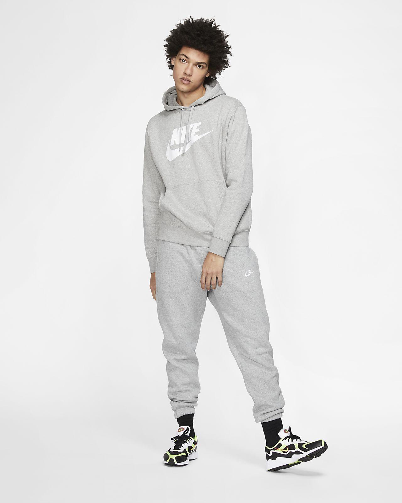 Felpa pullover con cappuccio e grafica Nike Sportswear Club Fleece Uomo