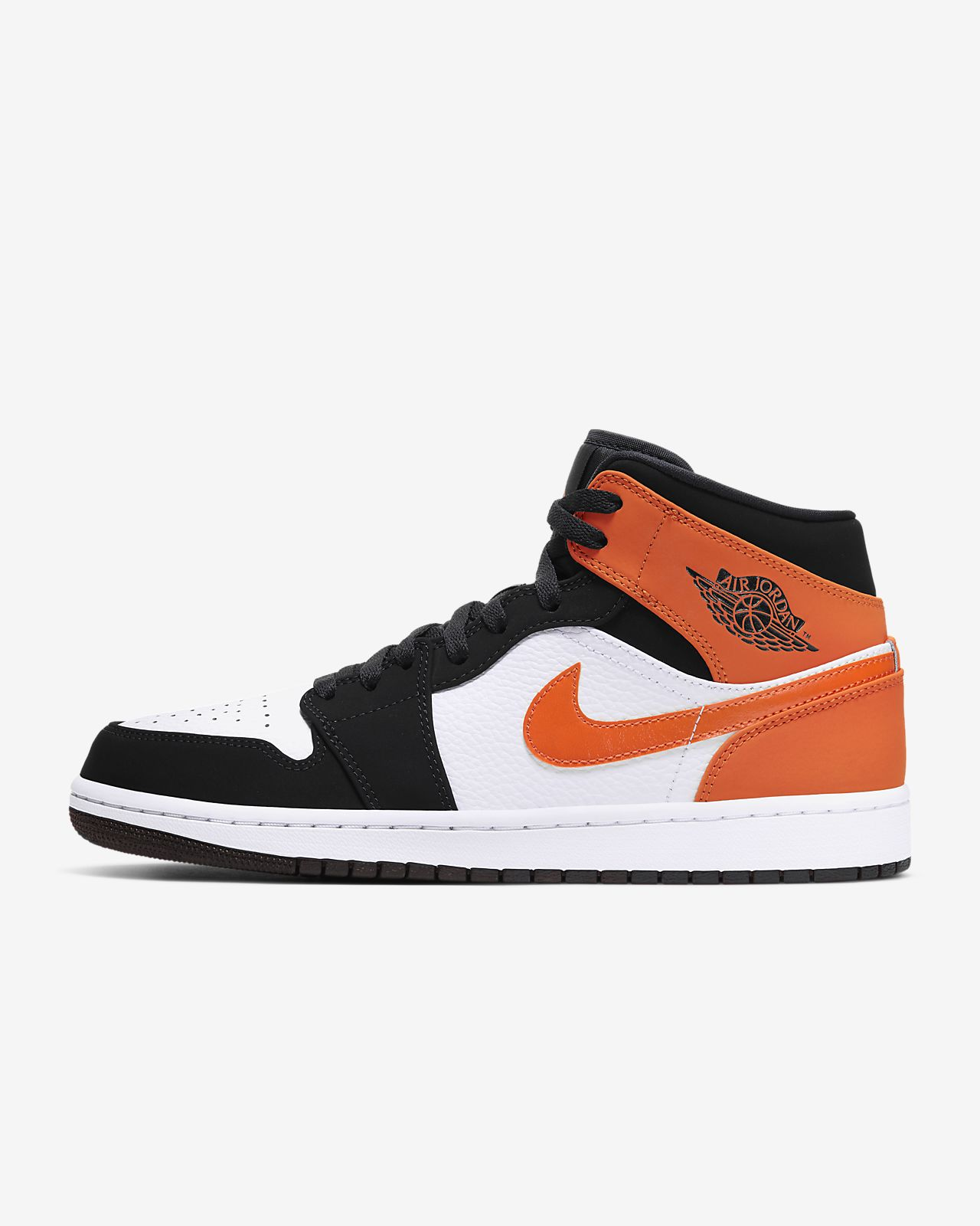 air jordan 1 mid orange noir