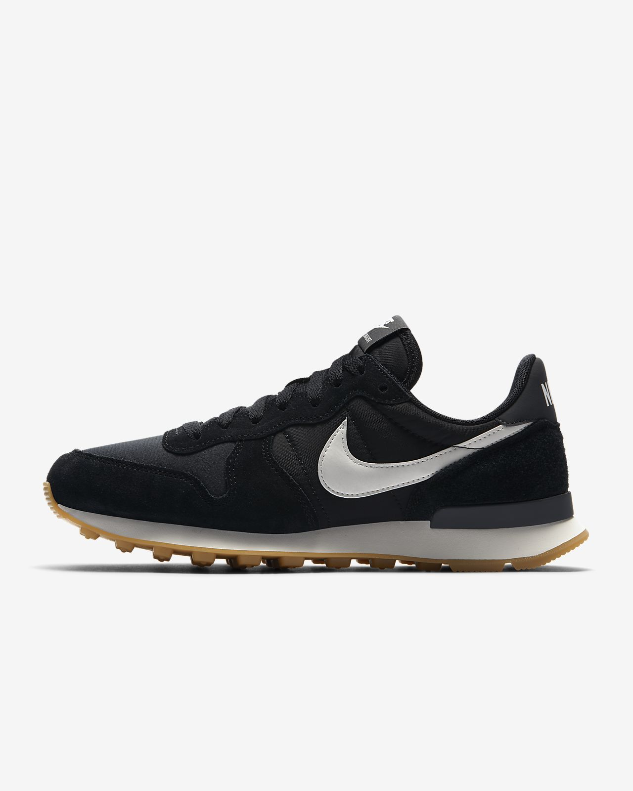 nike internationalist hoog zwart