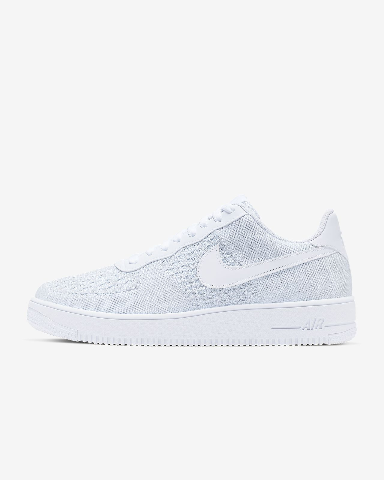 Nike Air Force 1 Flyknit 2.0 Low White Pure Platinum Grey