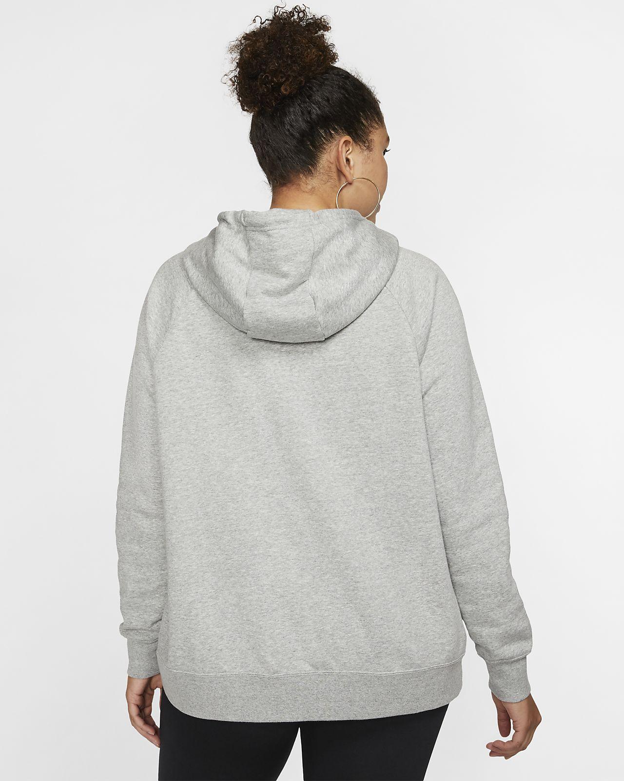 Nike Sportswear Essential kapucnis, belebújós polár női pulóver (plus size méret)