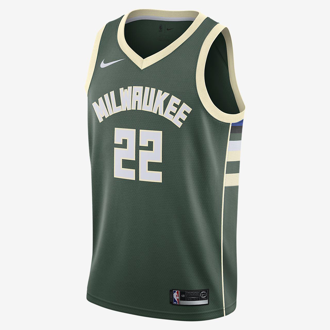Maillot connecté Nike NBA Khris Middleton Icon Edition Swingman (Milwaukee Bucks) pour Homme