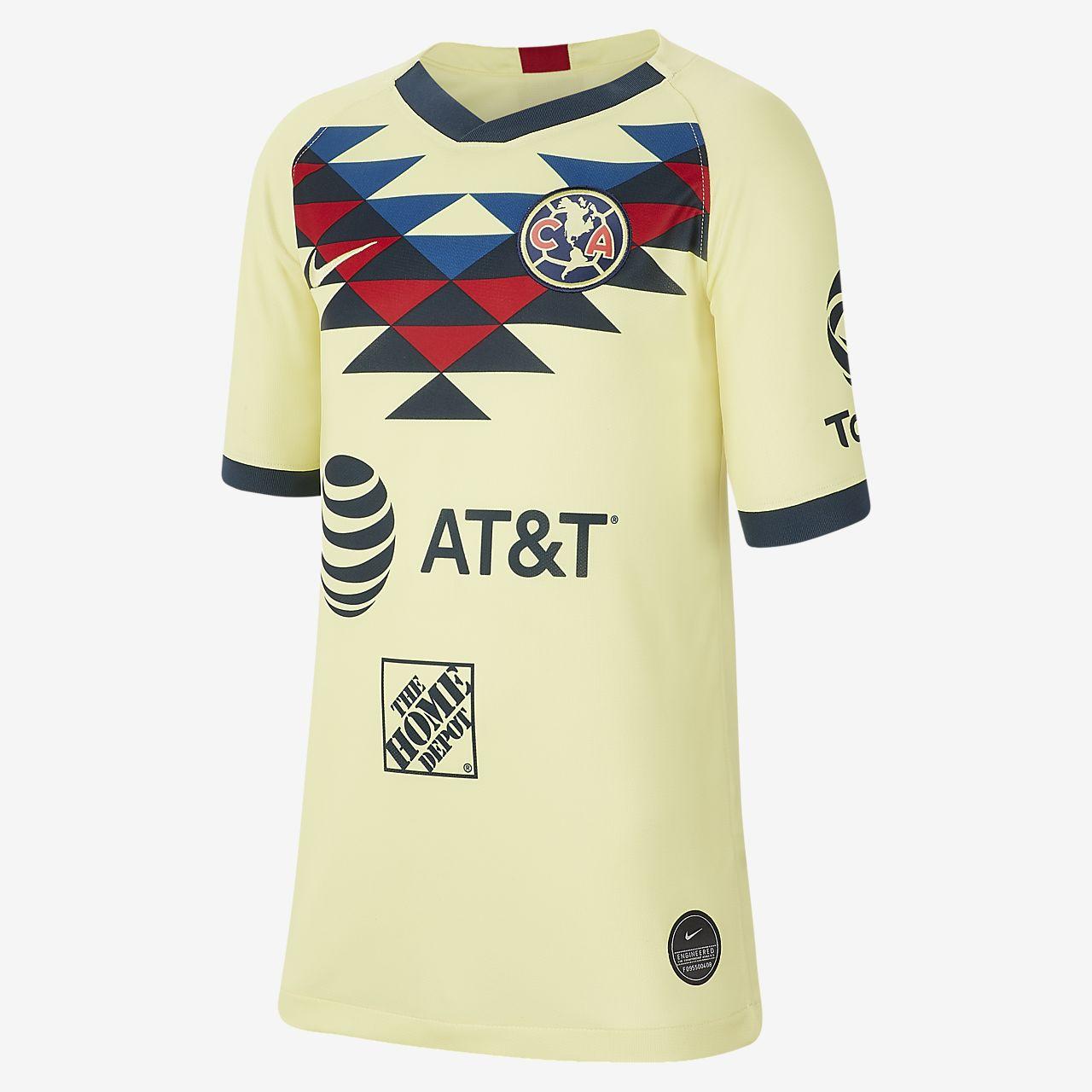 Nike Boys Tiempo II Soccer Jersey T-Shirt Navy Size Youth